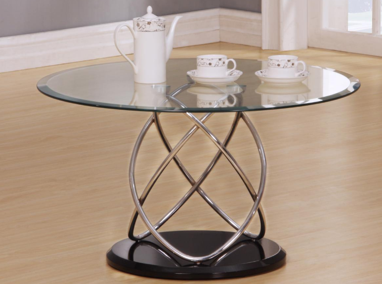 round clear coffee table