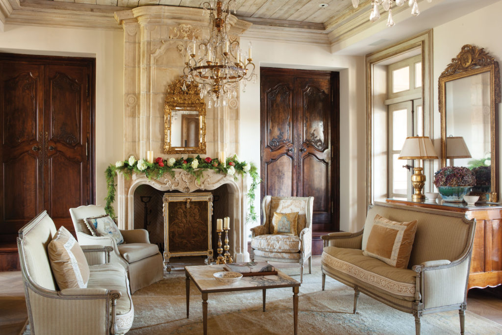 French Antique Fireplace