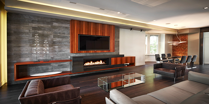 Modern Clean Lines Fireplace